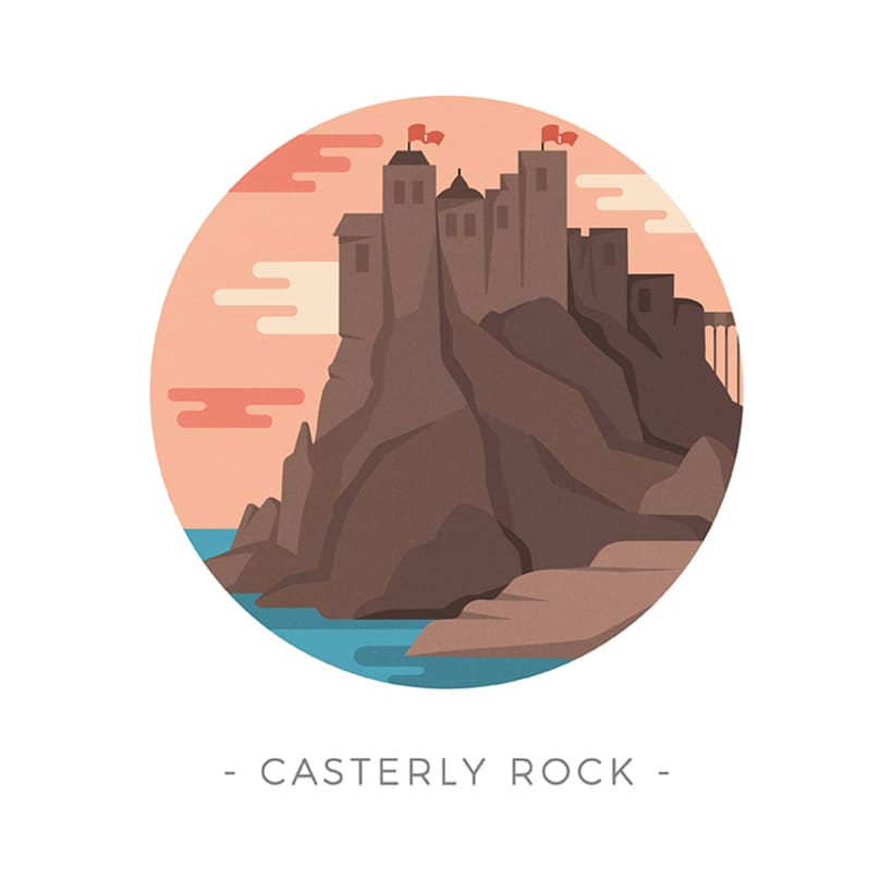 Game of Thrones landscapes - Illustrated icon set 6