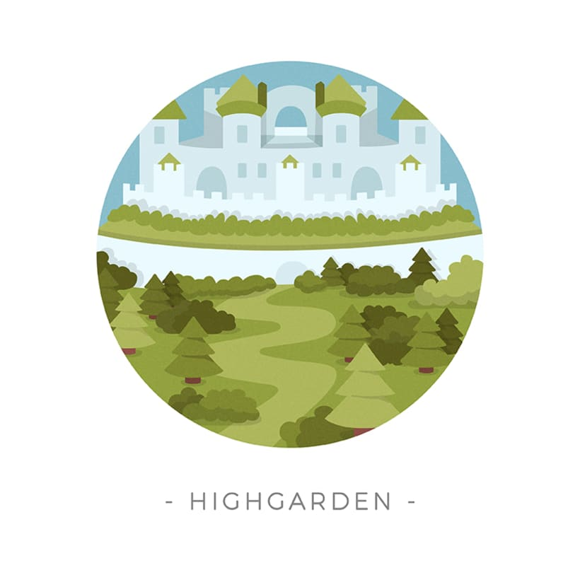 Game of Thrones landscapes - Illustrated icon set 8