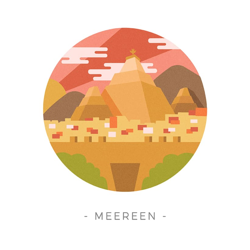 Game of Thrones landscapes - Illustrated icon set 10