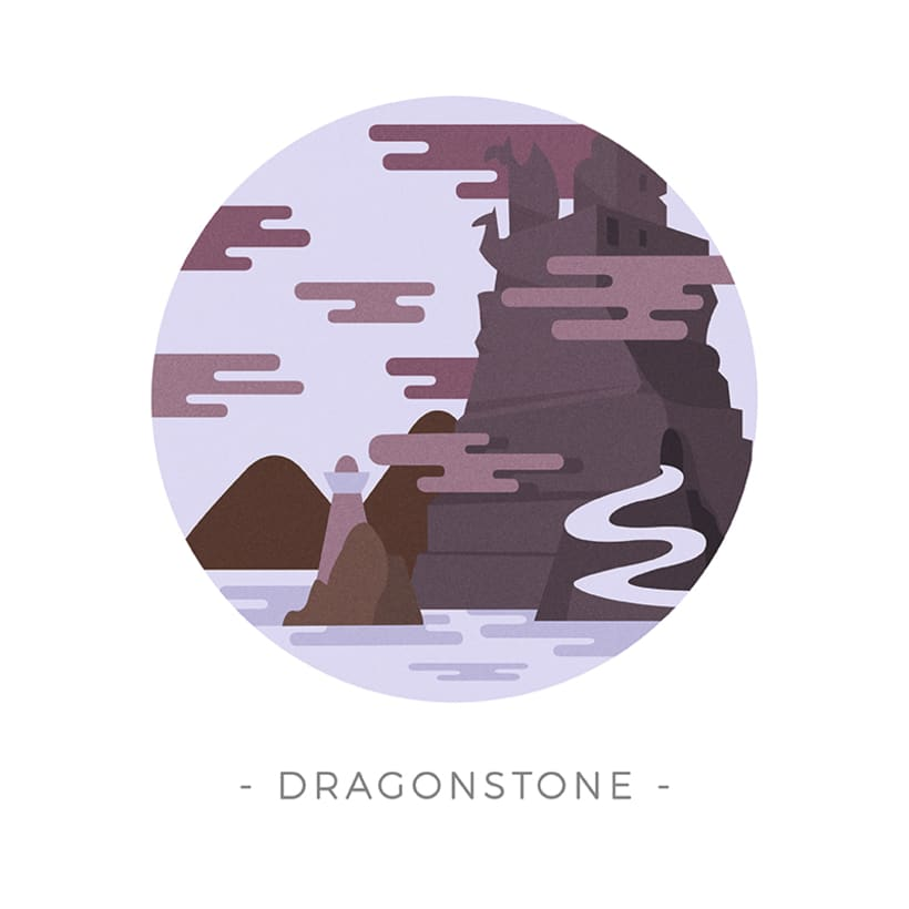 Game of Thrones landscapes - Illustrated icon set 12