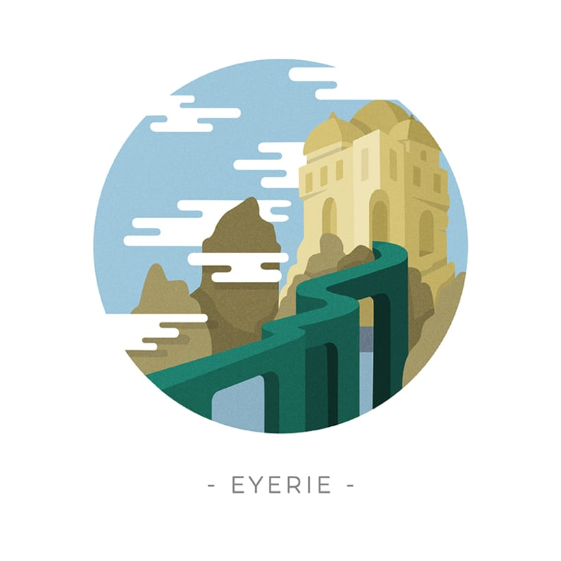 Game of Thrones landscapes - Illustrated icon set 14