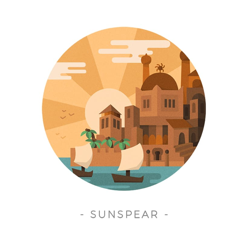 Game of Thrones landscapes - Illustrated icon set 16