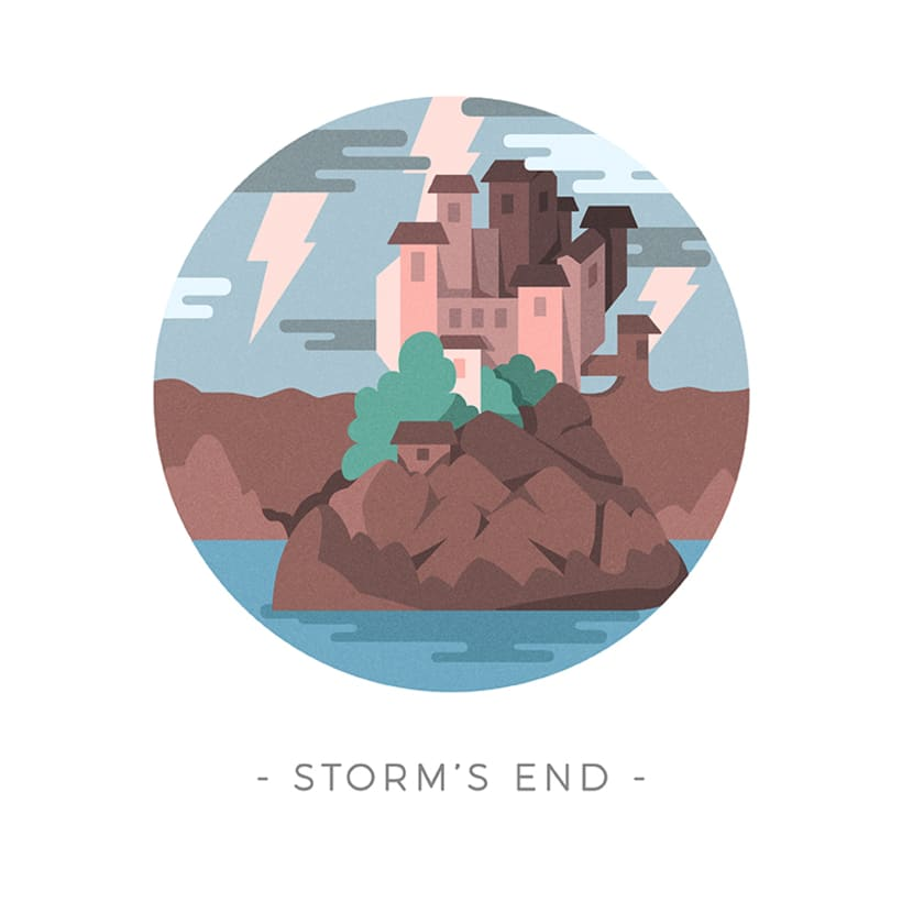 Game of Thrones landscapes - Illustrated icon set 20