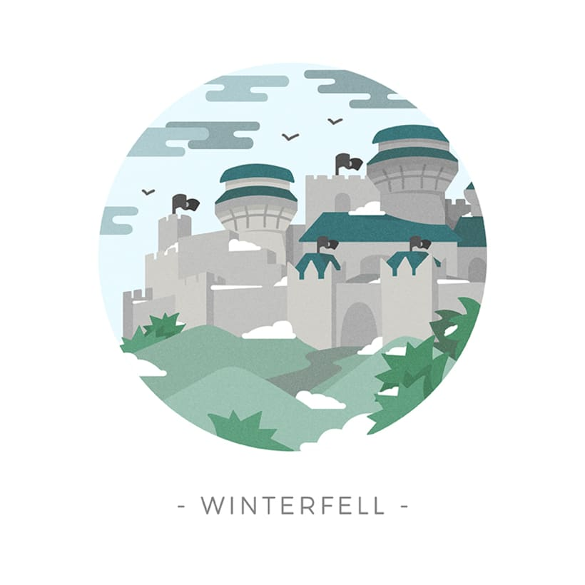 Game of Thrones landscapes - Illustrated icon set 22