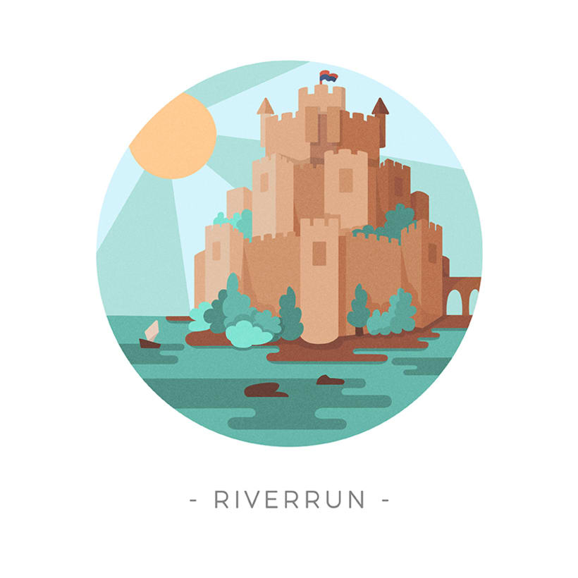 Game of Thrones landscapes - Illustrated icon set 24