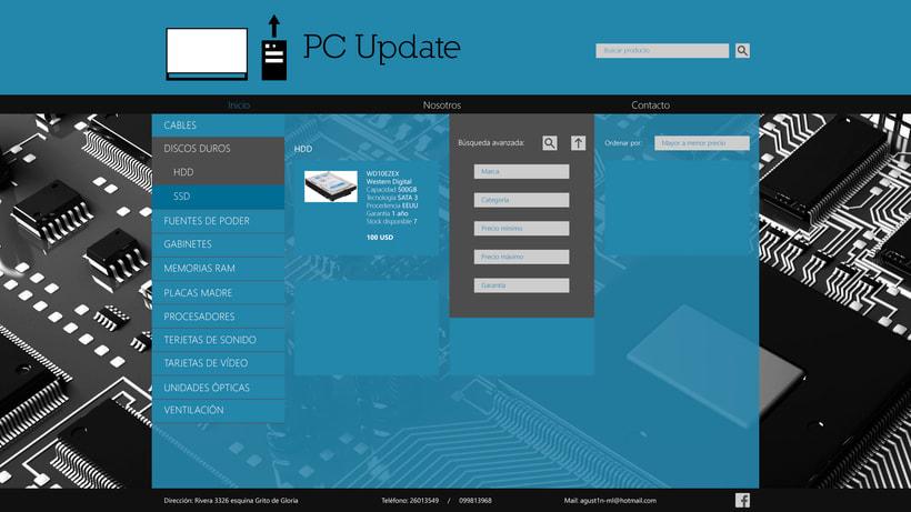 Diseño sitio PC Update 2