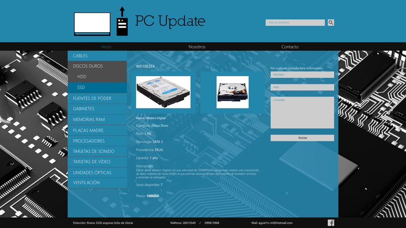 Diseño sitio PC Update 3