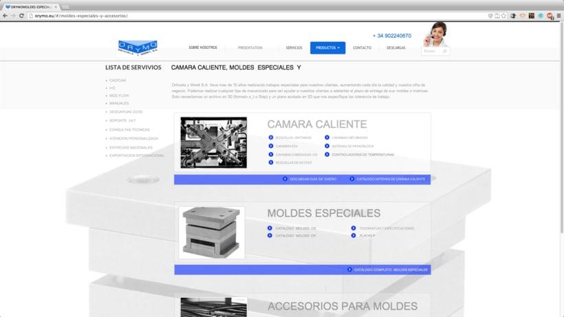 diseño WEB para la empresa:  ORYMO S.A  3