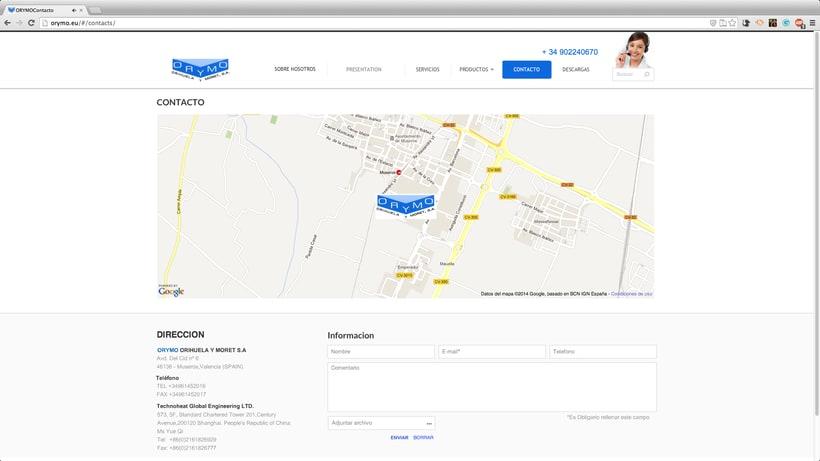 diseño WEB para la empresa:  ORYMO S.A  4