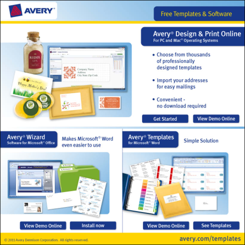Software UI - Avery Free Templates & Software -1