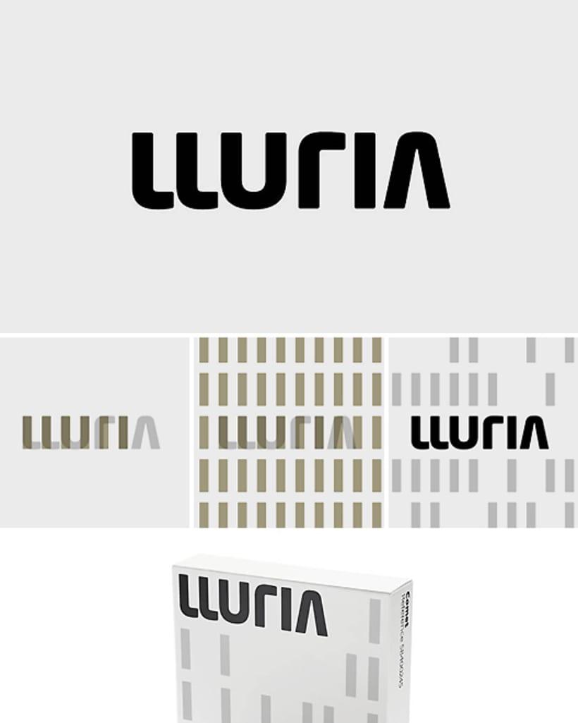 Imagen corporativa de la empresa de ingeniería de iluminación Lluria -1