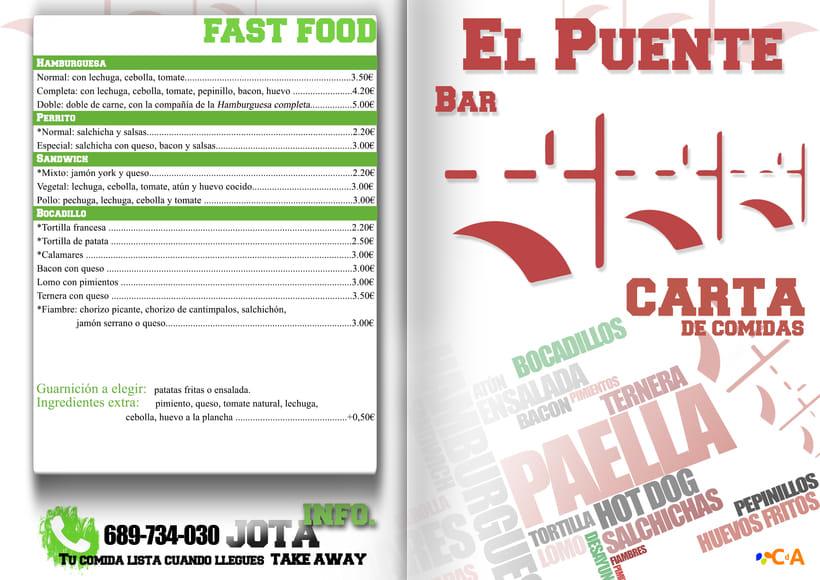 CAFÉ-BAR EL PUENTE (Segovia) #cartelería #flyers (2015) -1