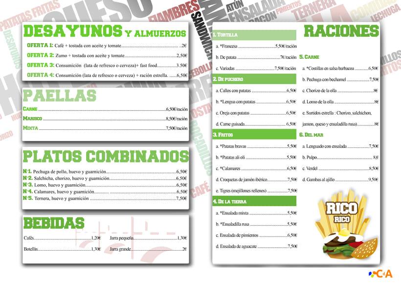 CAFÉ-BAR EL PUENTE (Segovia) #cartelería #flyers (2015) 0