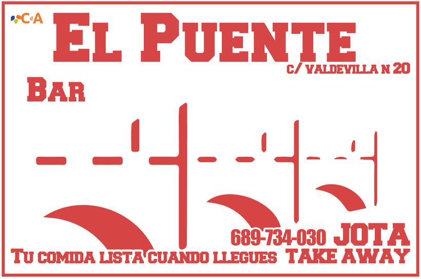 CAFÉ-BAR EL PUENTE (Segovia) #cartelería #flyers (2015) 3