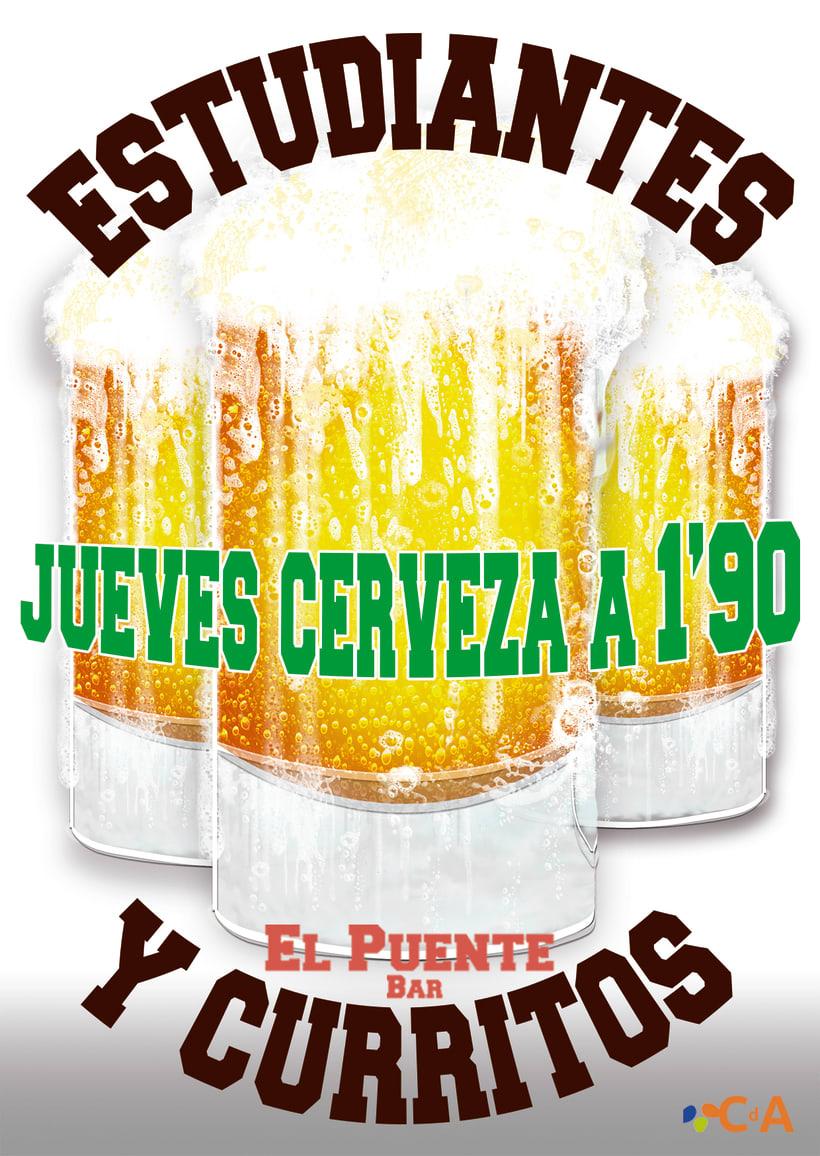 CAFÉ-BAR EL PUENTE (Segovia) #cartelería #flyers (2015) 5
