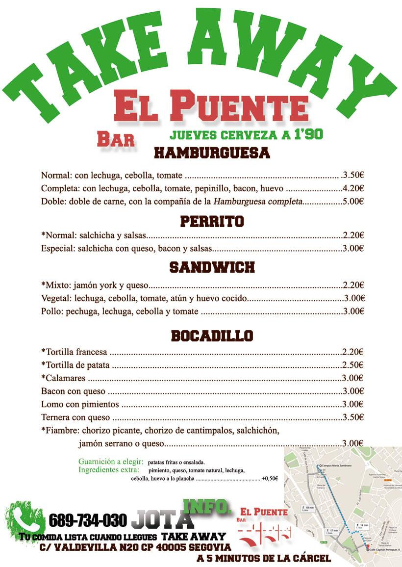 CAFÉ-BAR EL PUENTE (Segovia) #cartelería #flyers (2015) 6
