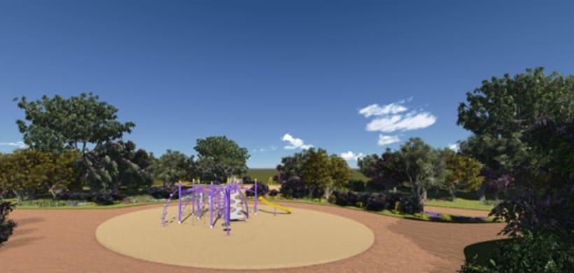Renders. Presentación del proyecto de un parque infantil. 7