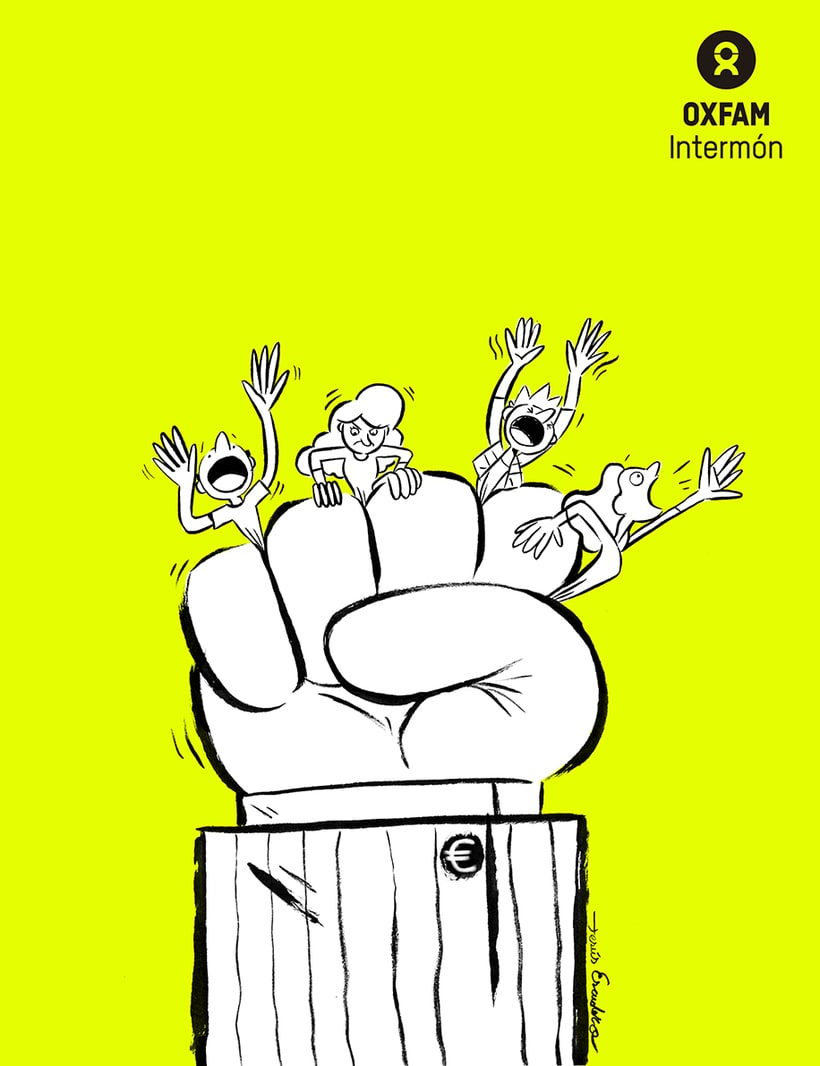 Colaboración para #EticaVSDesigualdad. Campaña de Oxfam Intermón en Sevilla. Se promocionaba un acto de http://poletika.org/es/ 2