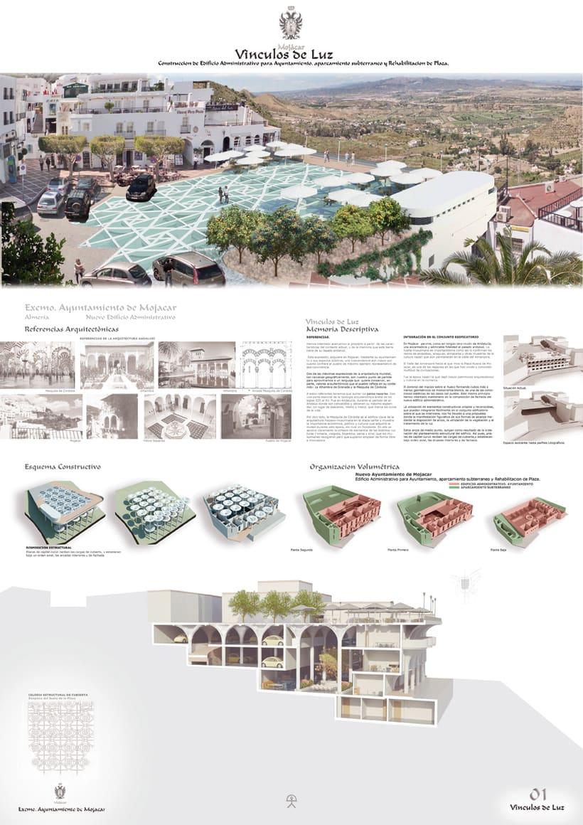 Infografía de Arquitectura de Mojácar. 2