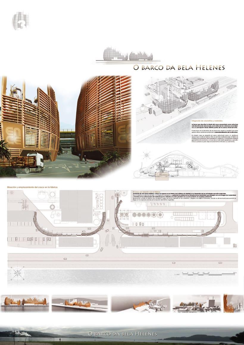 2º Premio en concurso de Arquitectura Ecológica. Ence Pontevedra. -1