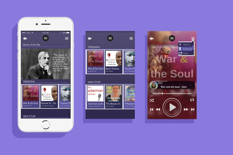 Hone - App UI 1