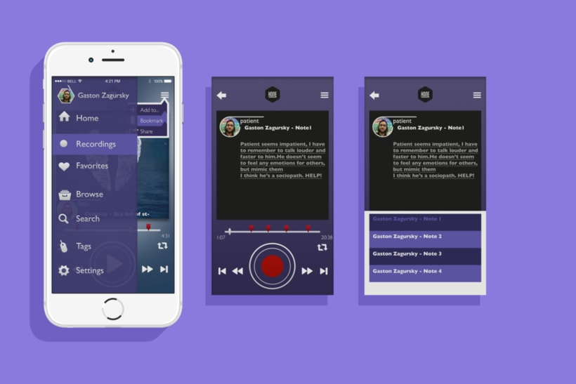 Hone - App UI 4