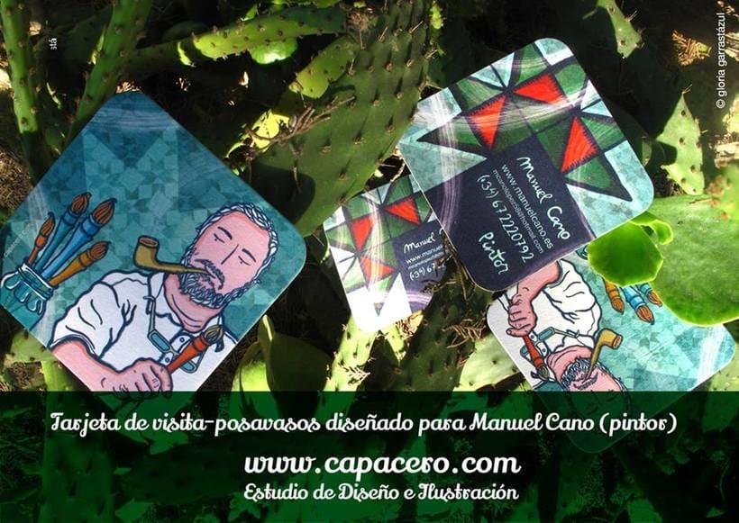 Tarjeta de Visita-posavasos para el artista Manuel Cano 0