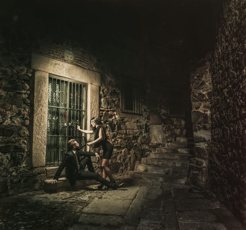 Luz fantasma en el Casco Viejo de Cáceres -1