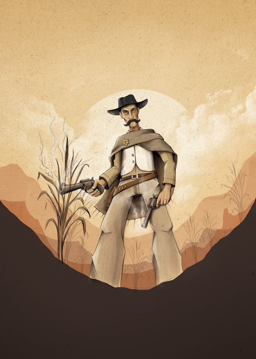 Cow boy /ilustración -1