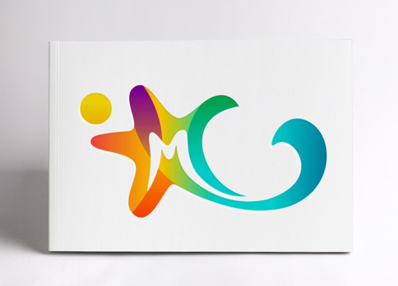 Diseño de logotipo para Marina Park, un centro de ocio que incluye un parque acuático y zona comercial, situado en la Rivera Maya mexicana. El icono definitivo representa una estrella de mar de 5 puntas. -1
