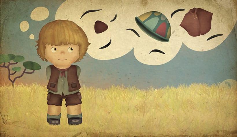 "Álbum ilustrado ""El misterio de la selva imaginada"" 9"