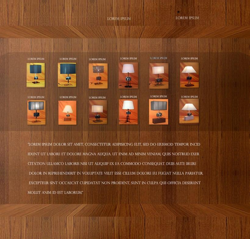 Proyecto Web Promocional Colección Lamparas Exclusivas 0