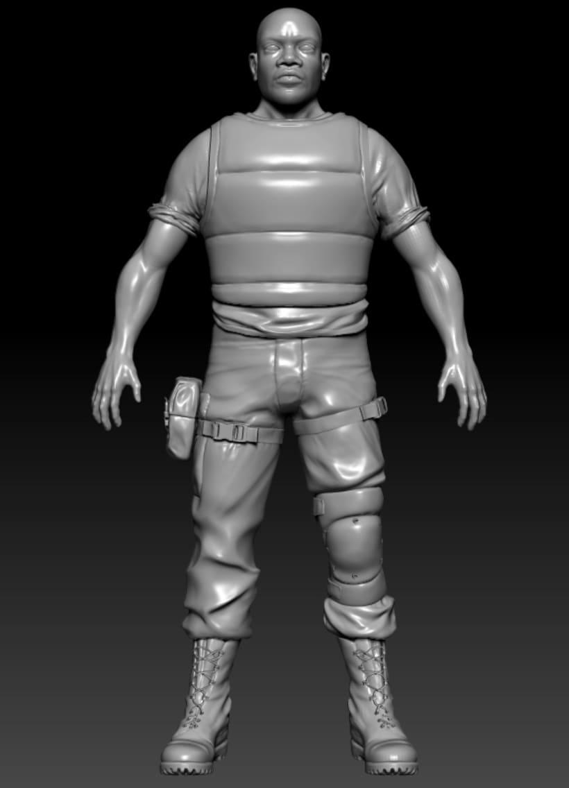 Modelado personaje 3d 3