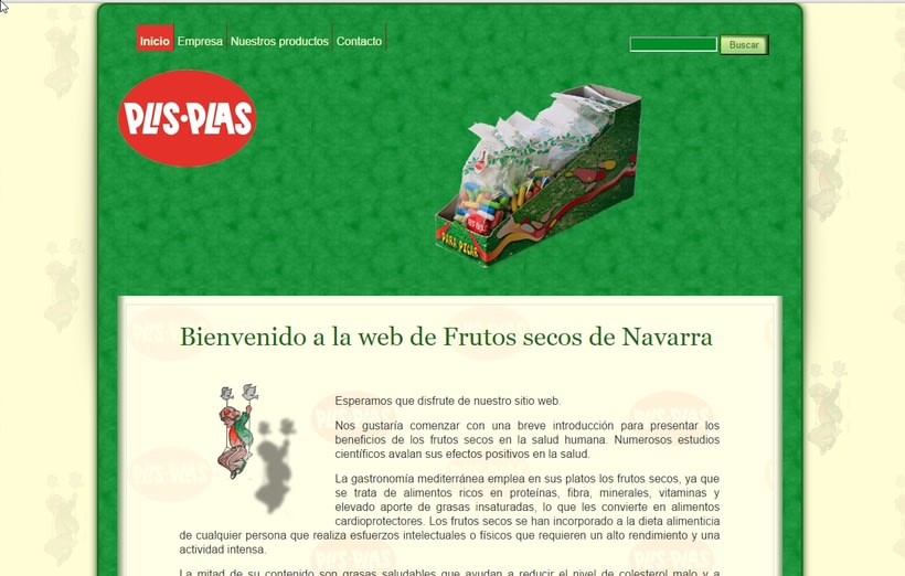 SItio web de empresa de frutos secos -1