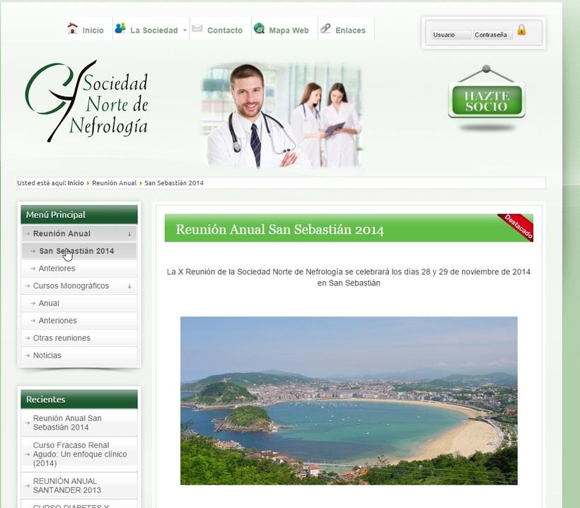 Sitio web de una sociedad de nefrología -1