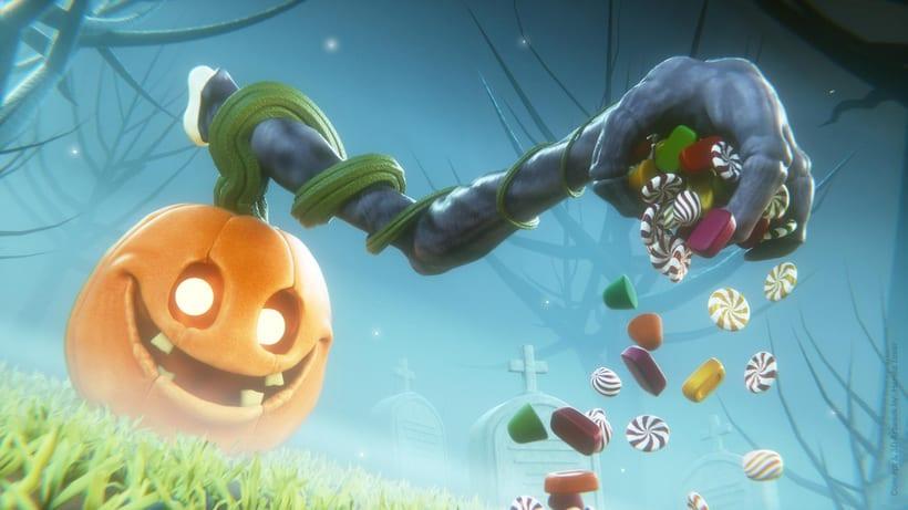 Halloween Pumpkin - Blender 3D -1