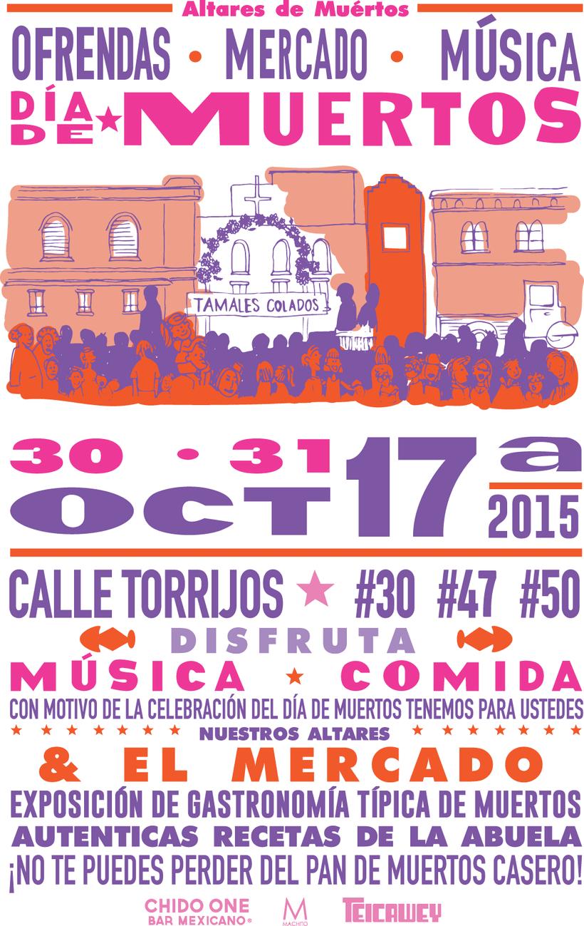 Poster Mercado de Día de los Santos Difuntos 0