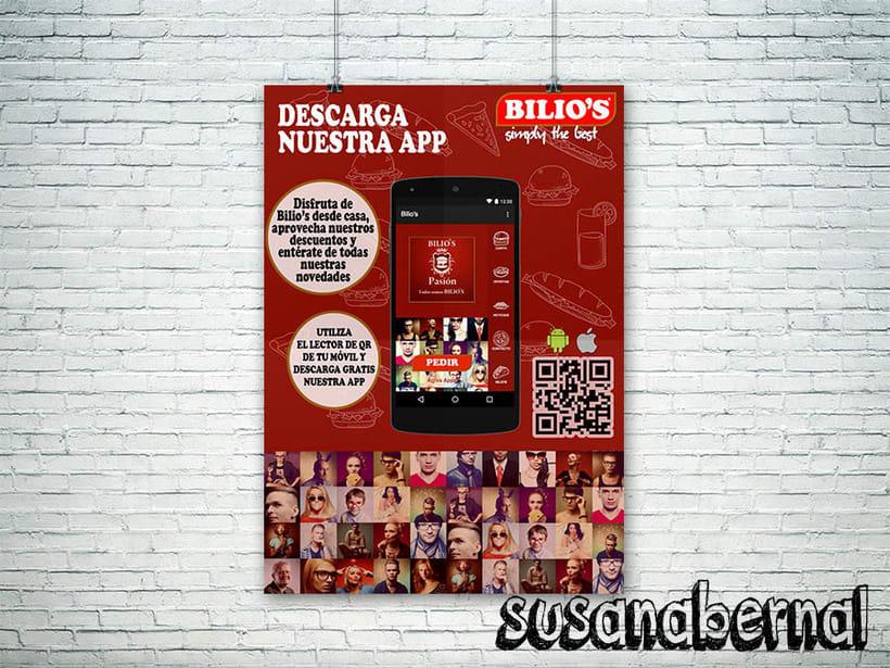 Diseño de folletos para descarga de Apps  -1