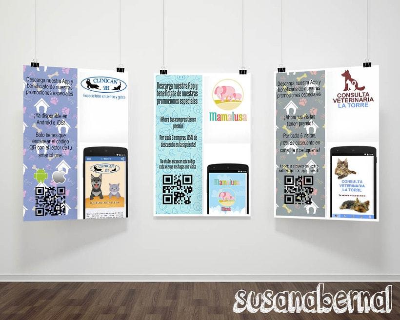 Diseño de folletos para descarga de Apps  0