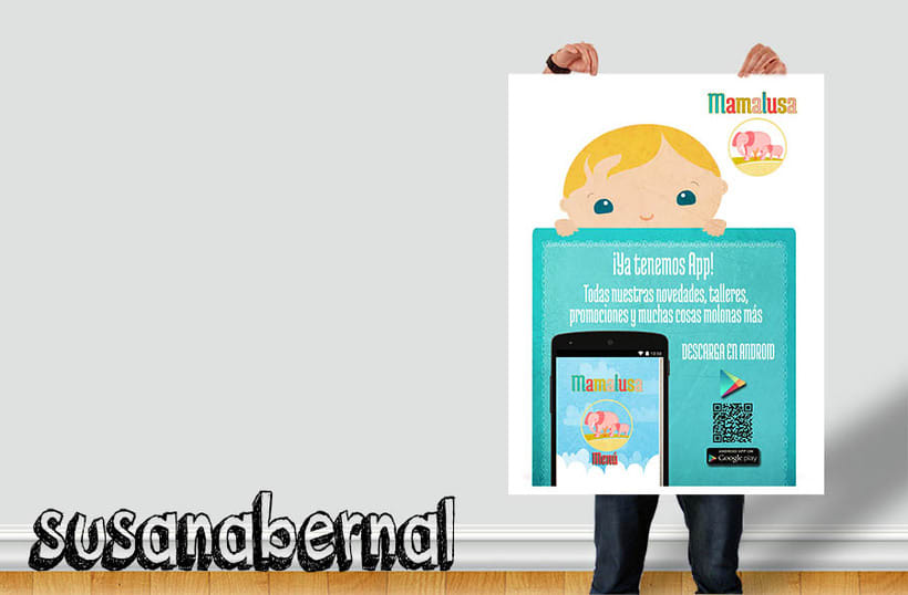 Diseño de folletos para descarga de Apps  1