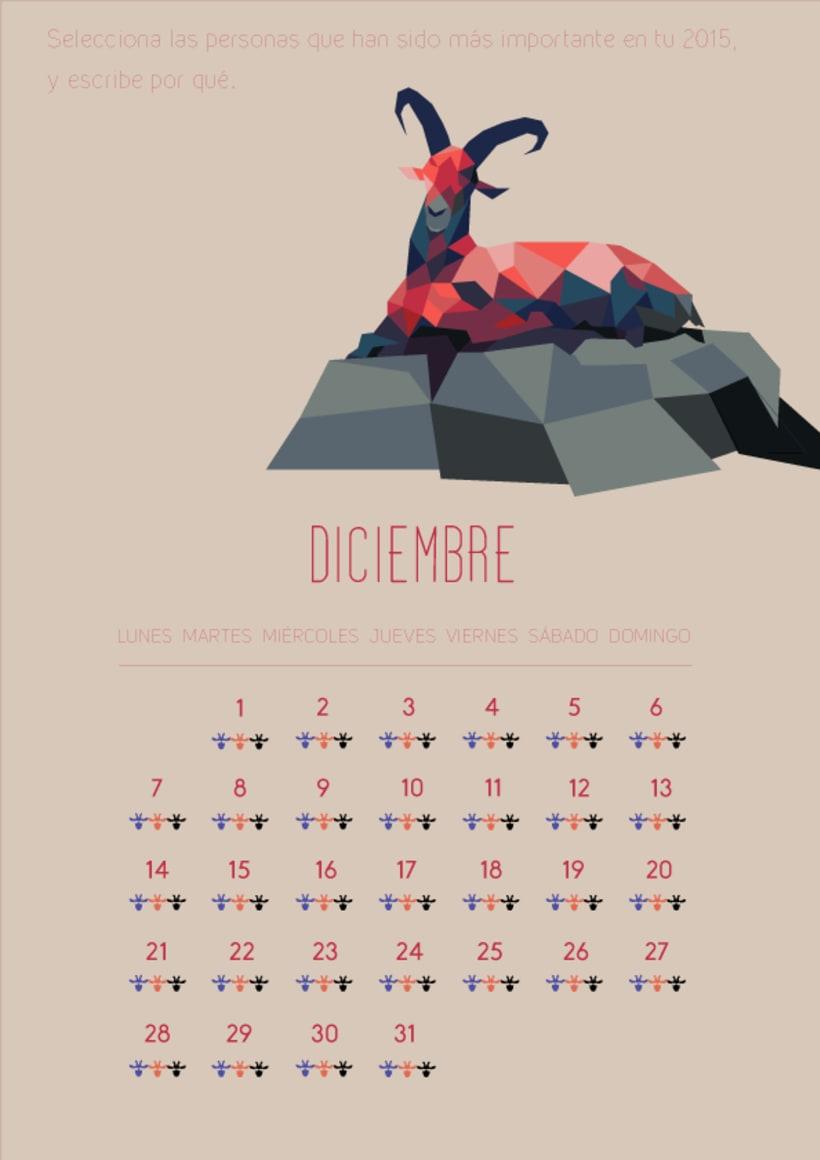 Diseño gráfico.Calendario2015 2