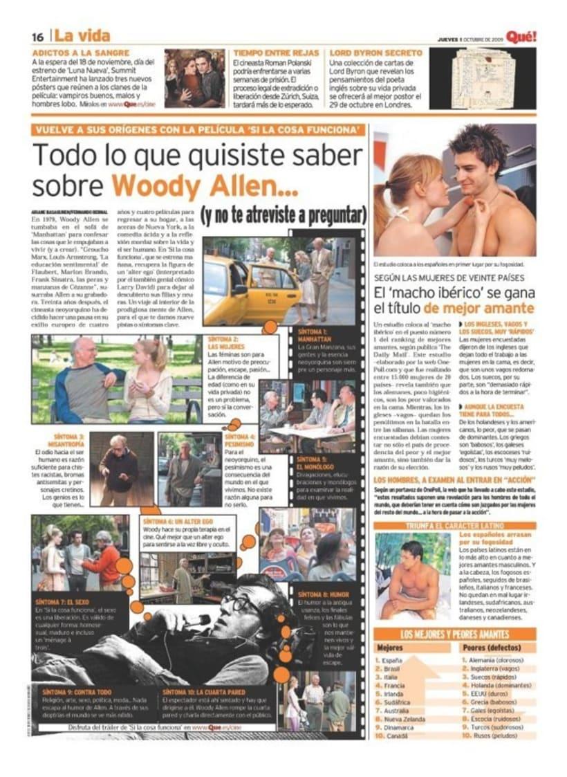 Maquetadora en diario Qué! en diferentes secciones -1