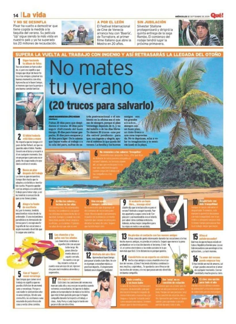 Maquetadora en diario Qué! en diferentes secciones 0