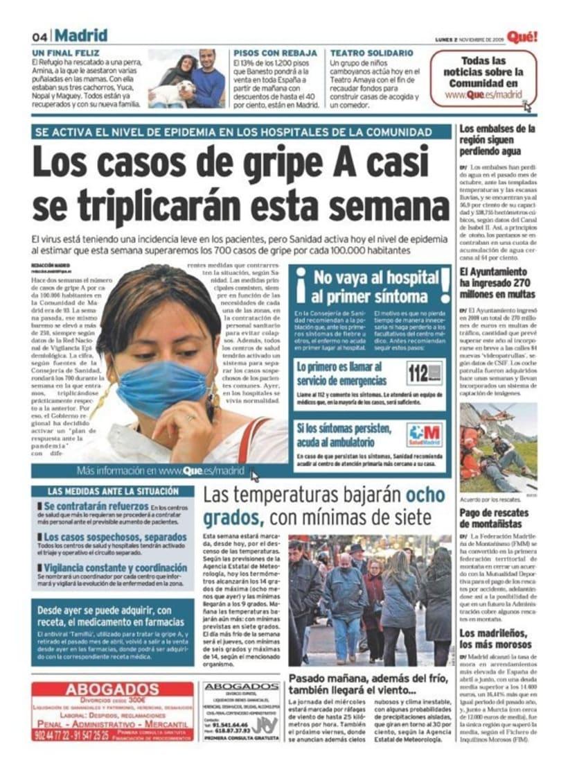 Maquetadora en diario Qué! en diferentes secciones 2