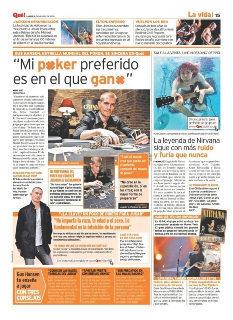 Maquetadora en diario Qué! en diferentes secciones 3