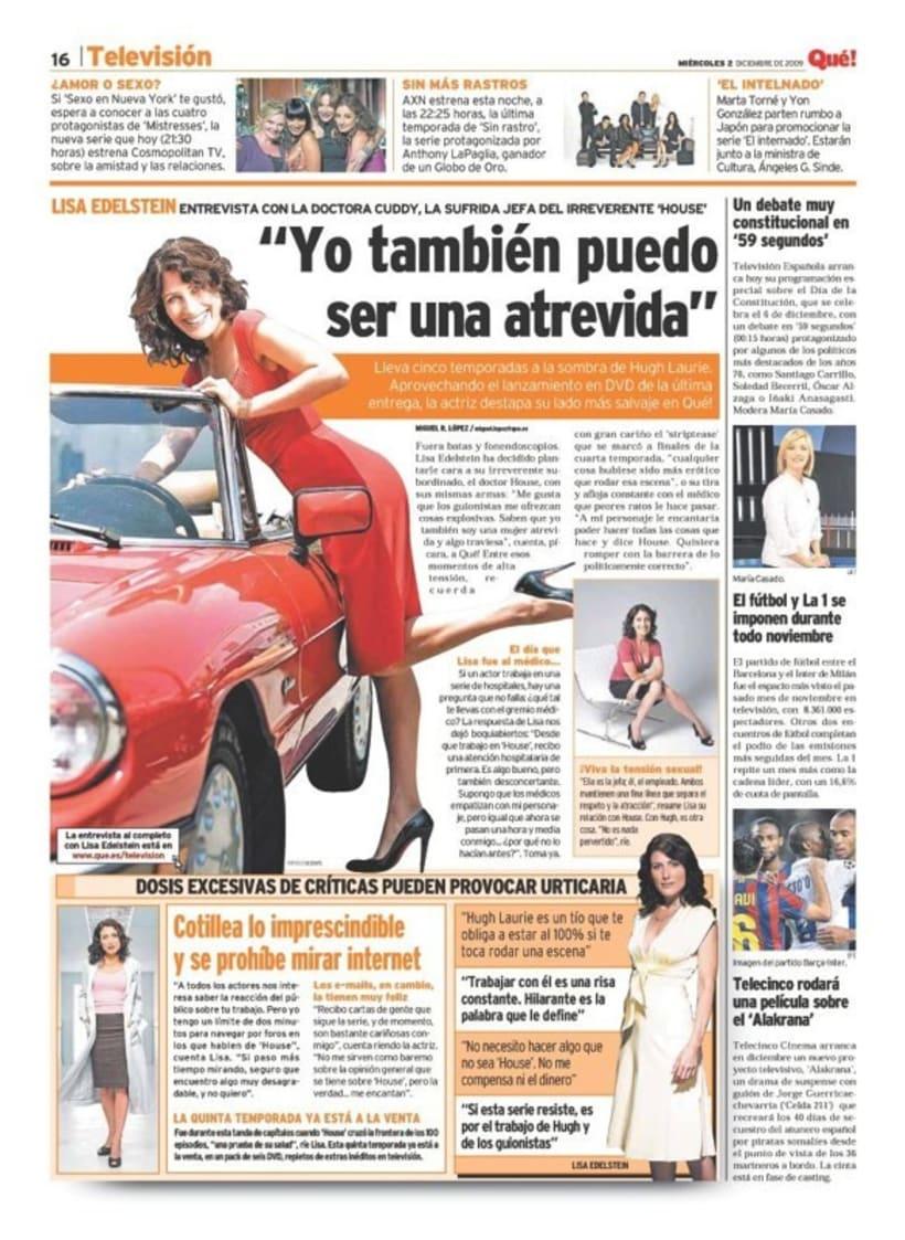 Maquetadora en diario Qué! en diferentes secciones 5