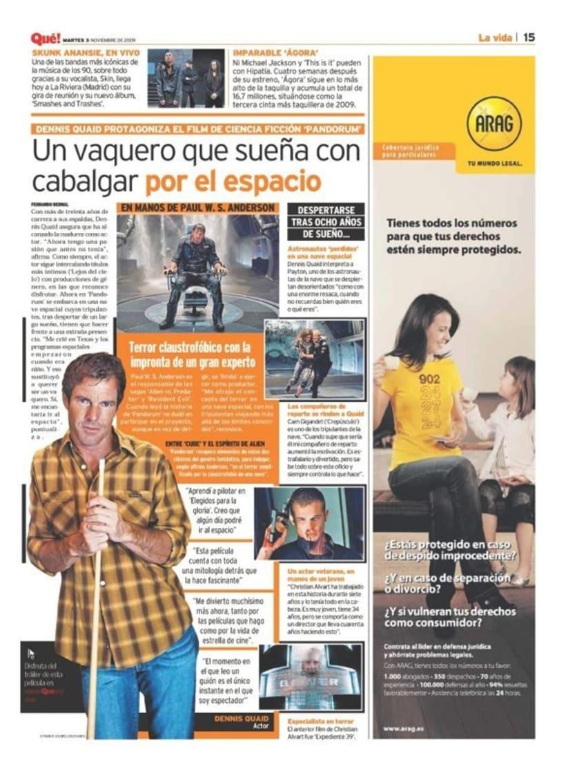 Maquetadora en diario Qué! en diferentes secciones 6