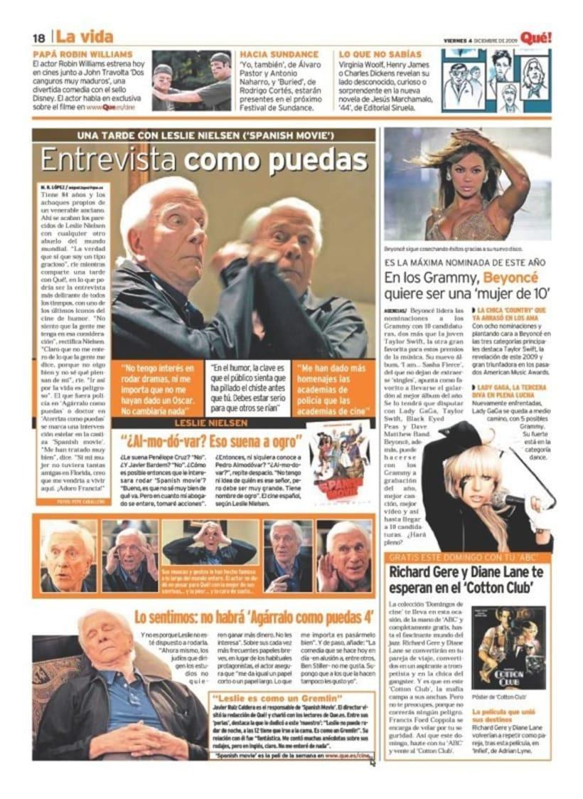 Maquetadora en diario Qué! en diferentes secciones 8