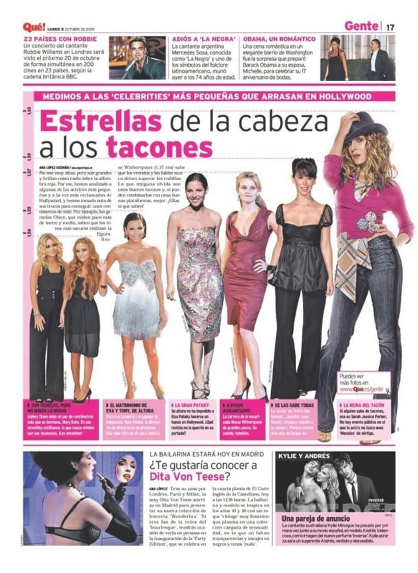 Maquetadora en diario Qué! en diferentes secciones 9