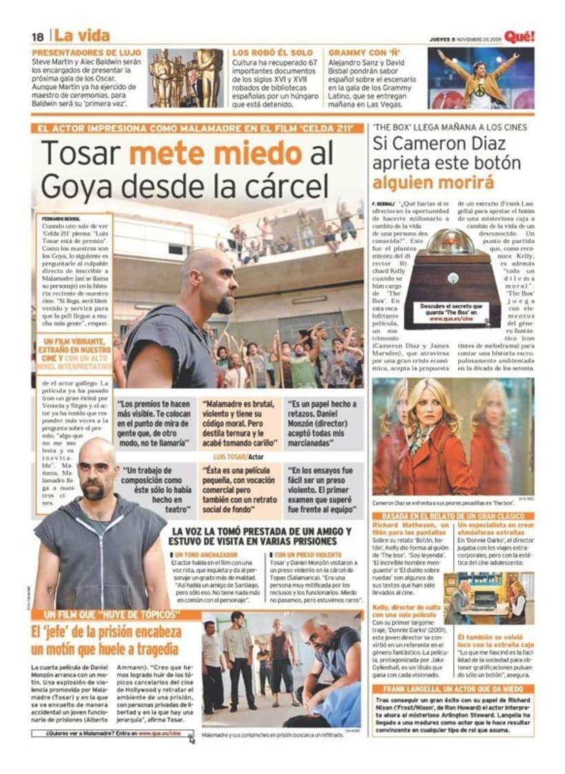 Maquetadora en diario Qué! en diferentes secciones 10